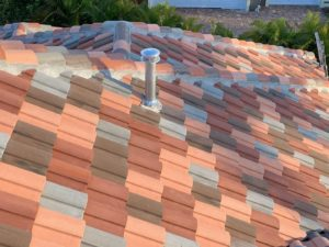 Beautiful four-color tile roofing.